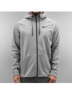 Nike Sweat à capuche zippé Therma Training gris
