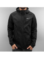 Nike Sweat à capuche zippé Therma Training noir