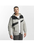 Nike NSW Fleece Hybrid Zip Hoody Dark Grey Heather/Black/Matte Silvester/Black
