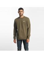 Nike Swetry NSW FLeece Club oliwkowy