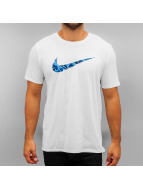 Nike T-paidat Swoosh Print Fill valkoinen