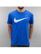 Nike T-Shirt Hangtag Swoosh blau