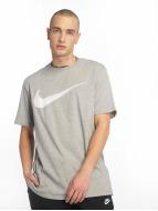 Nike T-Shirt Hangtag Swoosh gray