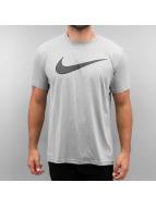 Nike t-shirt Legend Mesh Swoosh Training grijs