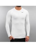 Nike T-Shirt manches longues Pro blanc