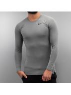 Nike T-Shirt manches longues Pro gris