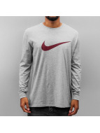 Nike T-Shirt manches longues Icon Swoosh gris