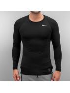 Nike T-Shirt manches longues Pro noir