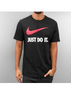 Nike T-shirt New JDI Swoosh nero