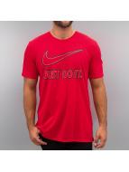 Nike T-Shirt Embroidery JDI red