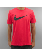 Nike T-Shirt Hangtag Swoosh rot