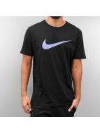 Nike T-Shirt Chest Swoosh schwarz