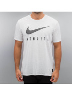 Nike T-Shirt Blend Mesh Swoosh Athlete Training weiß