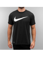Nike t-shirt Legend Mesh Swoosh Training zwart