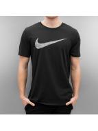 Nike t-shirt Dry Swoosh HTR zwart
