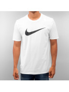 Nike T-Shirty Chest Swoosh bialy