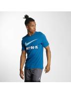 Nike T-Shirty New JDI Swoosh niebieski