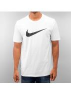 Nike T-skjorter Chest Swoosh hvit