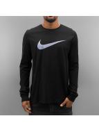 Nike Tričká dlhý rukáv Icon Swoosh èierna