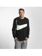 Nike Tričká dlhý rukáv NSW Hybrid èierna