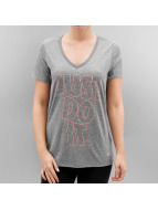 Nike W NK DRY T-Shirt Carbon Heather/Lava Glow