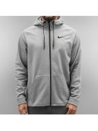 Nike Vetoketjuhupparit Therma Training harmaa