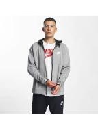 Nike Vetoketjuhupparit Sportswear Advance 15 harmaa