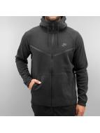 Nike Vetoketjuhupparit Sportswear Tech Fleece musta