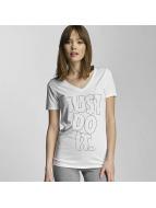 W NK DRY T-Shirt White/B...