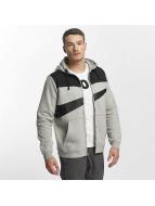 Nike Zip Hoodie NSW Fleece Hybrid šedá