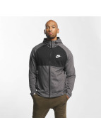 Nike Zip Hoodie Sportswear Advance 15 Fleece серый