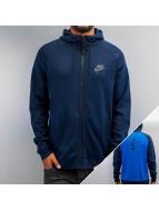 Nike Zip Hoodie Sportswear blau