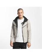 Nike Zip Hoodie Sportswear Tech Fleece grau