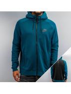 Nike Zip Hoodie Sportswear turkusowy