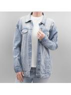Noisy May Демисезонная куртка nmOli Loose Embroidery синий