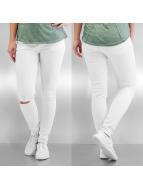 Noisy May Облегающие джинсы May nmLucy Super Slim Ankle белый
