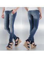 Noisy May Облегающие джинсы mEve Low Slim Rip Patch синий