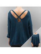 Noisy May Пуловер CMVera 3/4 Spring X-Back Knit синий