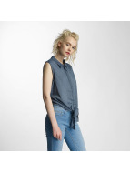 Noisy May nmEvelyn Tie Short Shirt Ombre Blue