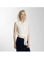 Noisy May nmEvelyn Tie Short Shirt Snow White