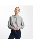 Noisy May nmChristian Crop Hoody Light Grey Melange