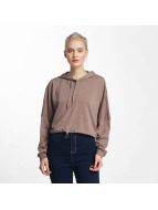 Noisy May nmChristian Crop Hoody Twilight Mauve