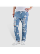 Noisy May Jeans Boyfriend nmScarlet Star Low Waist Ankle bleu