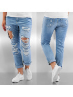 Noisy May Jeans Boyfriend nmSCarlet Regular Destroyed bleu