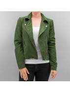 Noisy May Leather Jacket nmLune khaki