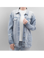 Noisy May Lightweight Jacket nmOli Loose Embroidery blue