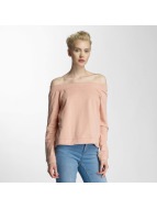 Noisy May nmFenty Off Shoulder Top Rose Tan