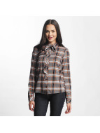 Noisy May nmErik Pussybow Shirt Medium Grey Melange