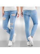 Noisy May Skinny Jeans nmEve Super Low Super Slim Ancle Zip niebieski