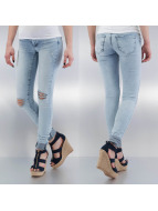 Noisy May Skinny Jeans nmKate Low Waisted Super Slim niebieski